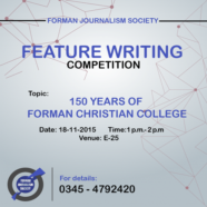 Register for FJS' Feature Writing Competition