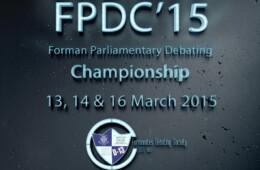 Forman Parliamentary Debating Championship 2015