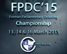 FDS to host Forman Parliamentary Debates Championship