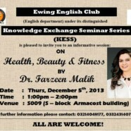 EES to to hold lecture on Health, Beauty and Fitness