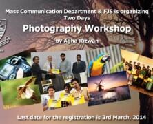 Register for FJS & Mass Comm Dept's photography workshop