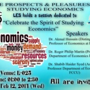 LES to hold session on Celebrating the spirit of  studying Economics