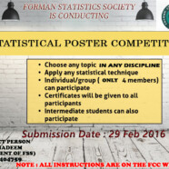 FSS to hold Statistical Poster Competition