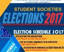 Societies Election 2017